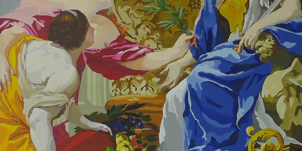 Allégorie de la paix, acrylique sur toile, 160x110cm