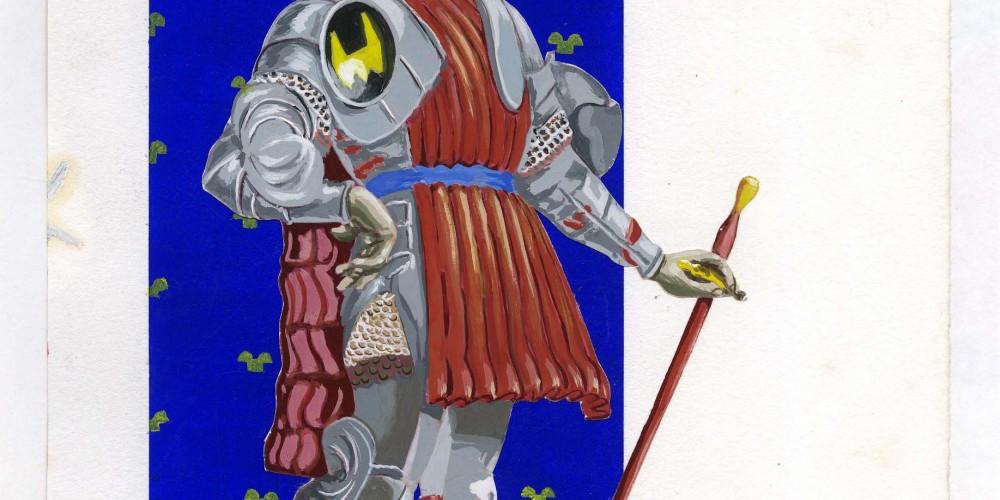 Autoportrait 3 gouache sur papier 21x29,7cm 2010