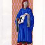 Autoportrait gouache sur papier 21x29,7cm 2010