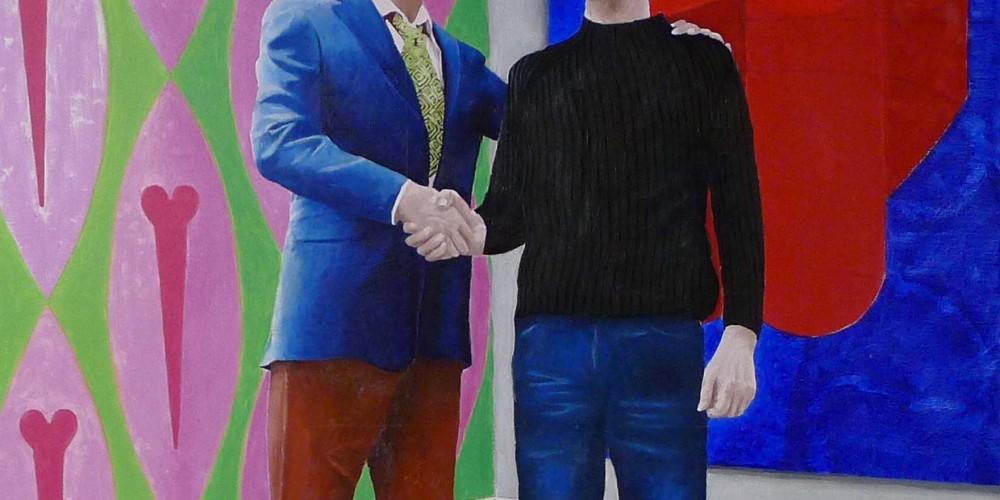 Bonjour Mr Huber, huile sur toile, 100x125cm