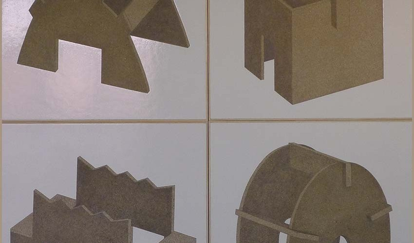 F3D N°15, 31, 3, 20 laque sur aggloméré 60x60cm chacune 2013