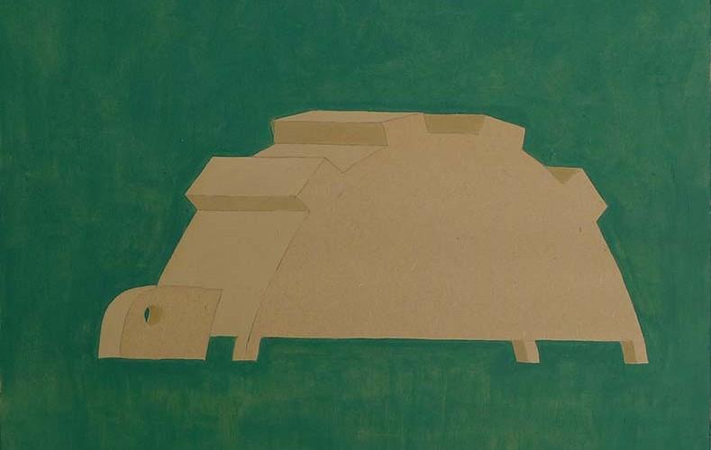 F3D N°15 vinylique sur bois, 46x40cm 2011