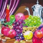 Imago, Carafe et corbeille à fruits, 1,60 x 1,20 m