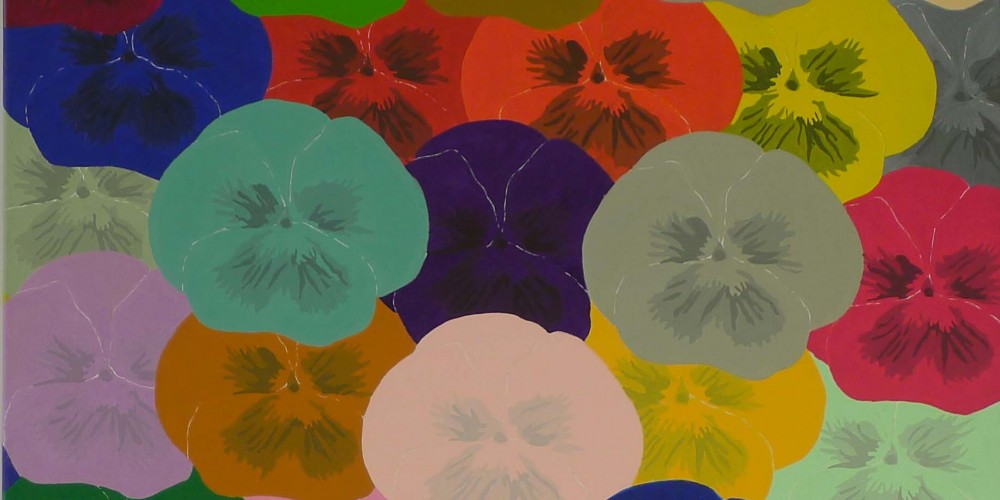 Les Grandes Pensees, acrylique sur toile 1,00x0,90m