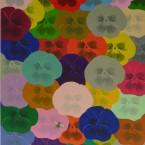 Les Grandes Pensées, acrylique sur toile 1,00x0,90m