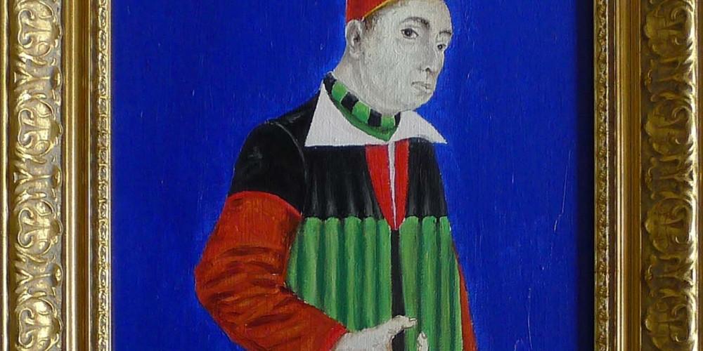 Nicolas de Cues huile sur toile 44x33 2010