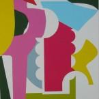 Phasme N°Phasme N°1, 2003. Acrylique sur papier marouflé sur bois, 153x130x5 cm1