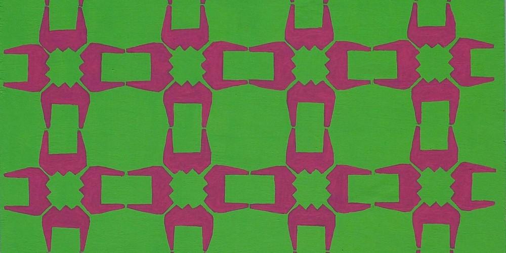 TFF, F3D N°14, vinylique, 25x25x4