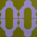 TFF, F3D N°28, vinylique, 25x25x4 cm