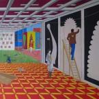 Tableau d'exposition, 14,21-huile-sur-toile-250x200cm