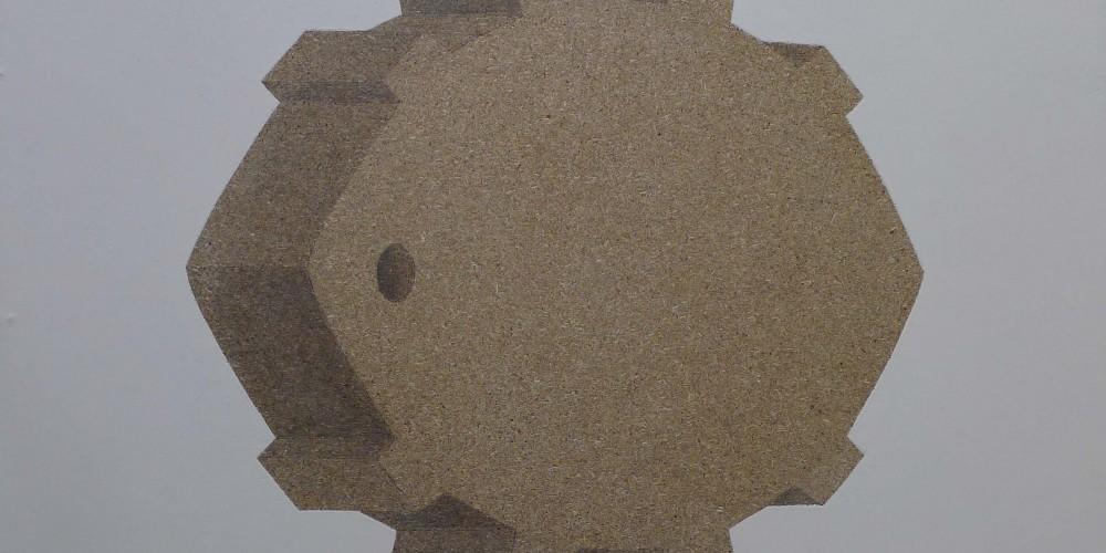 F3D N°15 bis laque et graphite sur aggloméré 80x60 2012
