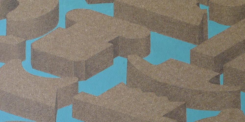 F3D huile et graphite sur aggloméré 60x80cm 2012