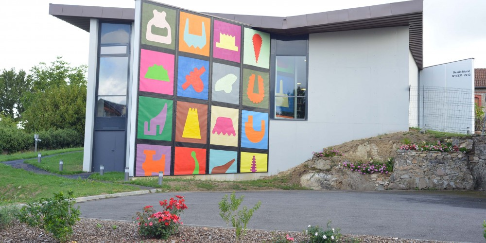 Peinture murale N° 1, 2 PVCcouleurs sur toilePVC 8,90x7,02m 2012
