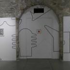 Dessin Mural N°4 (6)-27.98 x 3.96 m, pierre noire sur mur, FRAC Limousin, 2016