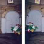 Dessin mural N° 4 (1) vue panoramique pierre noire sur mur chapelle ST Pierre des Carmes 2003