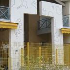 Dessin mural N°1p Bon Encontre acrylique noire sur mur 2004