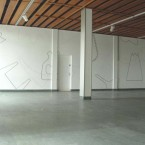Dessin mural N°4 (2) pierre noire sur mur, 2008