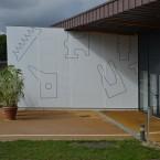 Dessin mural N°4, 5p peinture pvc sur toile 2012