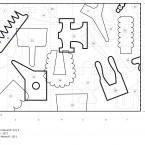 plan du dessin mural 4, 5,p