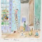 Aubeterre, aquarelle 21x29,7cm