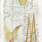 Dessin mural, aquarelle 21X29,7 b