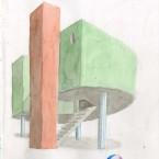 F3D N°1 aquarelle sur papier 20,6x29,4cm