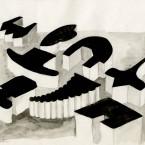 F3D groupe, aquarelle 21x29,7cm