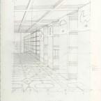 La bibliothèque  crayon sur papier 21x29,7cm2