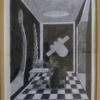 L'atelier, graphite sur papier 29,7x42cm