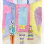 Le premier homme était un artiste aquarelle 21x29,7cm