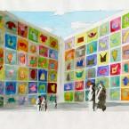 Peinture murale, aquarelle 21x29,7cm