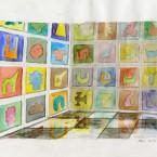 Peinture murale, aquarelle 21x29,7cm 2010