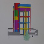 a Peinture, collage, crayon 29,7x42cm 2010