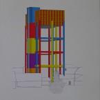 c Peinture, collage, crayon 29,7x42cm 2010