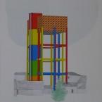 e Peinture, collage, crayon 29,7x42cm 2010