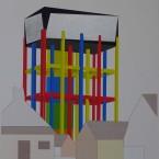 i Peinture, collage, crayon 29,7x42cm 2010