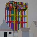 l Peinture, collage, crayon 29,7x42cm 2010