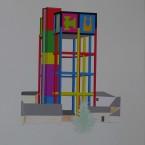 m Peinture, collage, crayon 29,7x42cm 2010