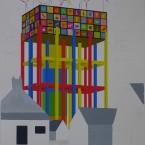 n Peinture, collage, crayon 29,7x42cm 2010