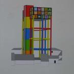o Peinture, collage, crayon 29,7x42cm 2010