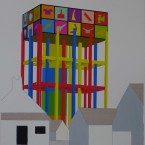 p Peinture, collage, crayon 29,7x42cm 2010