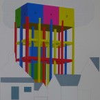 r Peinture, collage, crayon 29,7x42cm 2010