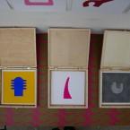 3 Boîtes ouvertes 21x21cm 2009
