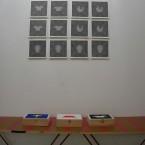 3 F3D d'une série de 4 encre sur papier 21x21cm 2009